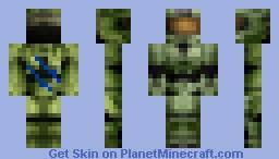 Master Cheif Minecraft Skin