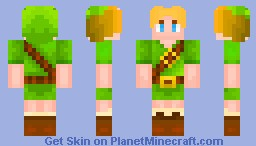 Young Link (New Shading Type) Minecraft Skin