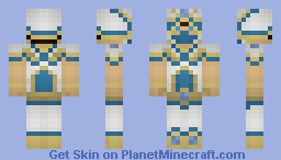 Seratus Mage of the Sea (3D Hood and Story!) Minecraft Skin