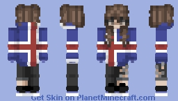 Iceland Hoodie Girl Minecraft Skin