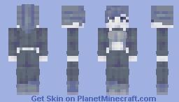 Black and white Minecraft Skin