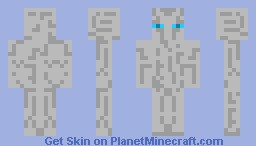 A Albino EnderMan Minecraft Skin