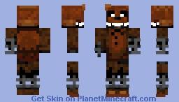 Ignited Freddy Minecraft Skin