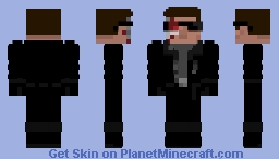 T-800 Terminator 2 Minecraft Skin
