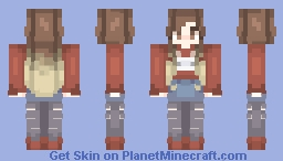 The hipster girl Minecraft Skin