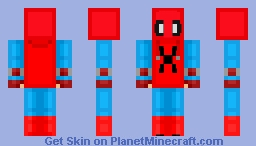 Spider-Man Homemade Suit (Chibi) Minecraft Skin