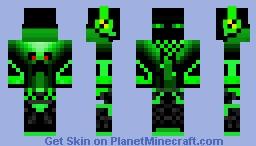 skins vert Minecraft Skin