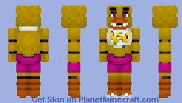Chica The Chicken -FNaF plus + Minecraft Skin