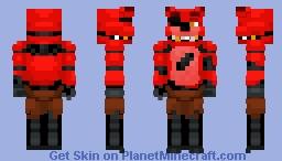 Foxy The Pirate Fox -Five Nights at Freddy's Minecraft Skin