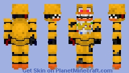 Withered Chica -Five Nights at Freddy's 2 (Unwithered in desc) Minecraft Skin