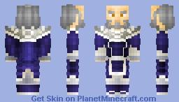 Iroh White Lotus Ver. [ REMASTERED ] Minecraft Skin
