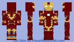 Iron Man Mark 43 Minecraft Skin