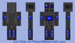 Robot-Blue Minecraft Skin