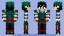 Izuku Midoriya (Deku) Revamp My Hero Academia Gamma Suit Minecraft Skin