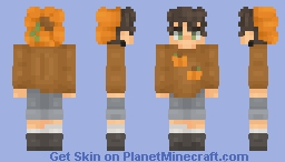 after all these years. . . ive finally made a pumpkin themed persona Minecraft Skin