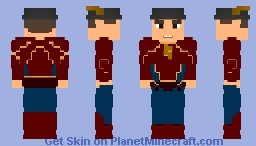 Jay Garrick   The Flash Earth-3 Suit (With Helmet) - CW Minecraft Skin