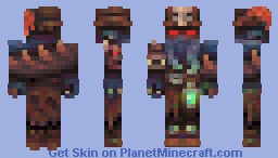 Captain of the Undead, Leviathan Whisperer Minecraft Skin