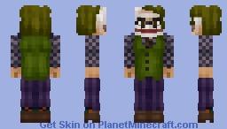 The Joker   DC (Dark Knight, Heath Ledger) [Steve Arms In Desc.] Minecraft Skin