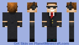 Cool guy in a suit Minecraft Skin