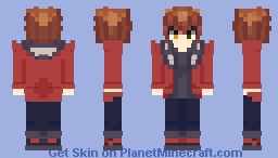 Jaden/ Judai Yuki -season 4 design-(yugioh GX) Minecraft Skin