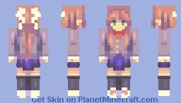 Monika DDLC Minecraft Skin