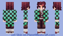 Demon Slayer - Tanjiro Kamado Minecraft Skin