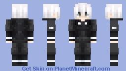 Ken Kaneki Remastered [Aogiri Outfit (Tokyo Ghoul VA)] Minecraft Skin