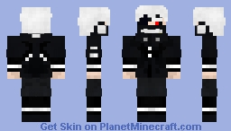 Kaneki Ken (Masked - Amon Fight) {No Mask Version In Description} Minecraft Skin
