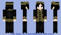 [LOTC] Black Fur Coat Minecraft Skin