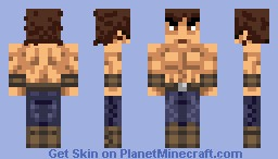 Kenshiro (Shirtless) Minecraft Skin
