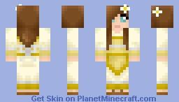 Kimono Girl - White Gold Minecraft Skin