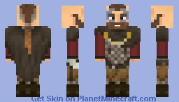King Harald Finehair of Norway [Red Shirt] Minecraft Skin