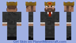King in a Suit Minecraft Skin