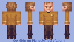 Captain James T Kirk Star Trek TOS Minecraft Skin