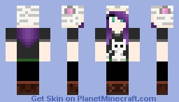 Girl with white tiger hat (requested) Minecraft Skin