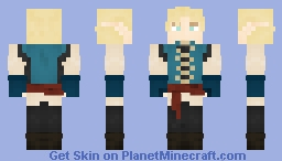 ✧ Vibrantly-hued High Elf Minecraft Skin