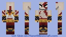 Kratos With blade Minecraft Skin