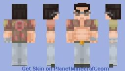 Yakuza 0 - Kuze (No Bandage) Minecraft Skin