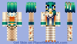 Kuzyaku (with Peacock Head) [Namu Amida Butsu!: Rendai Utena] Minecraft Skin