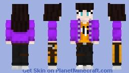 Purple/Yellow Girl Minecraft Skin