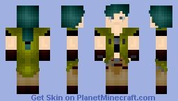 Kyoya Tategami《Green Wasteland overcoat》| Beyblade: Metal Fusion | Minecraft Skin