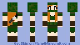 Stealth forest hunter female Minecraft Skin