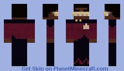 LT. Starfleet Officer Geordi La Forge | Star Trek TNG | S1 Minecraft Skin