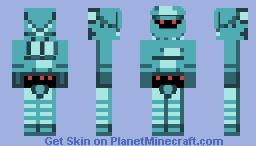Lancer's Set Glitch - Starbound (RPG Adventures Character Skin Contest Entry) Minecraft Skin