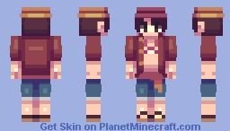 One peace kawaii skin Minecraft Skin