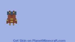 [RP] Leather Backpack With Blue Bedroll Minecraft Skin