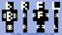 Letter Labeled Minecraft Skin