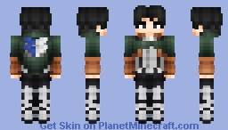 Levi Ackerman (S4) Minecraft Skin