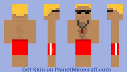 Life-guard (Is it Duke Nukem?) Minecraft Skin