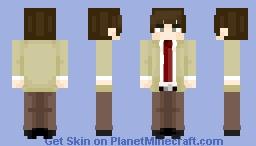Something Anime related ~ Light Yagami 👁 Minecraft Skin